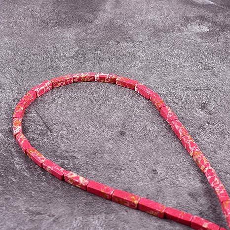 S Red Jasper 4x13mm Tube beads 16 strand