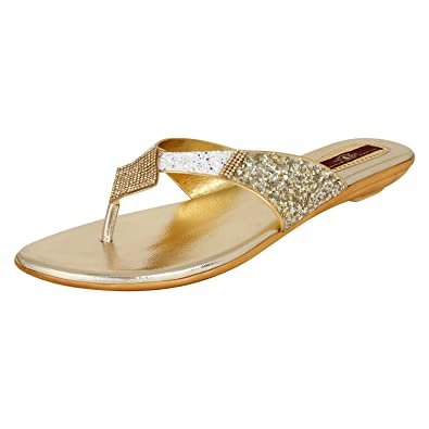 Authentic Vogue Gold Flats free shipping best place U1smbTUj