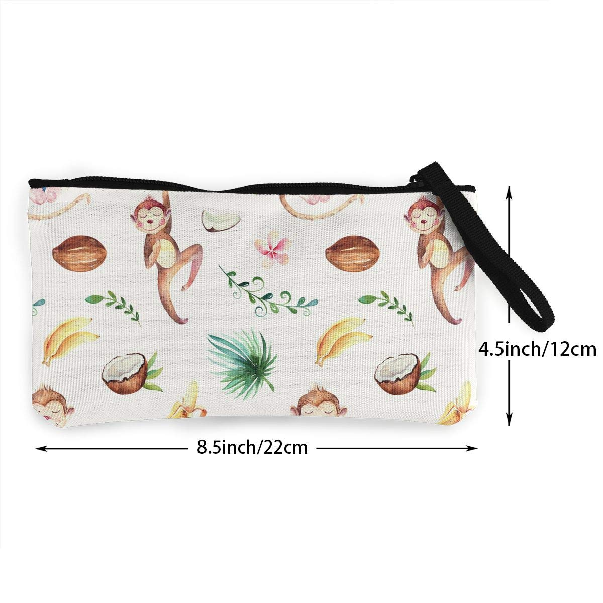 Baby Animals Nursery Pattern Canvas Makeup Bag with Zipper for Women Bk55Oi/&/& Womens Fashion Purse