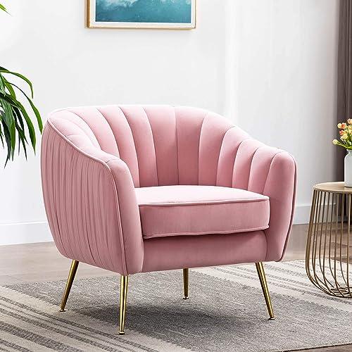 Altrobene Velvet Accent Chair