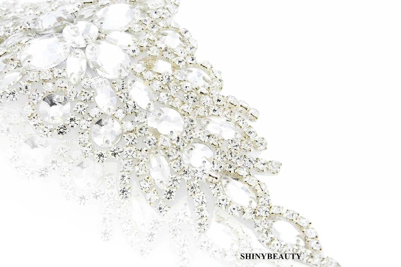 Shinybeauty Rhinestone Applique - Shinybeauty Rhinestone Applique y cinturón Sash para accesorios de...