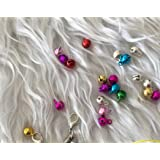 200 Pcs MULTI COLOR JINGLE BELLS CHARMS FOR CRAFTS, JEWERLY MAKING, SEWING ETC (6mm/0.23inche)