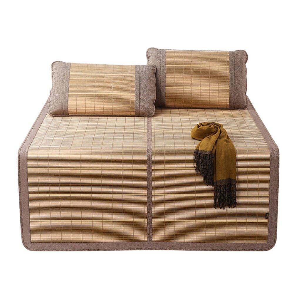 WENZHE Bambus Matratzen Sommer-Schlafmatten Strohmatte Teppiche Beidseitig Zusammenklappbar Zuhause Studentenwohnheim Multifunktion, 4 Größen