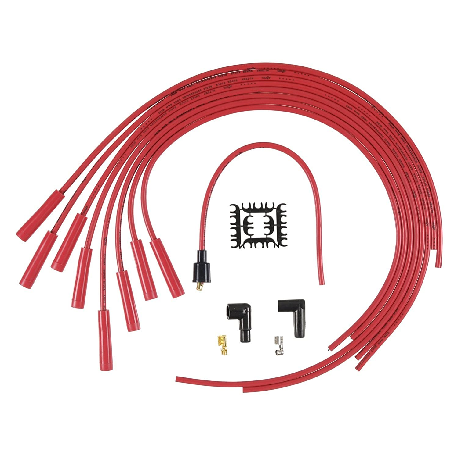 ACCEL ACC 4040R 8mm Super Stock Copper Universal Wire Set - Red