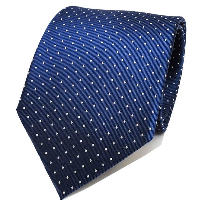 TigerTie diseñador corbata de seda - azul saphir-azur plata ...