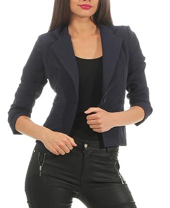 150fc8b3a4 DANAEST Eleganter Damen Blazer Jacke aus Baumwolle für Business Freizeit  Party (632), Farbe