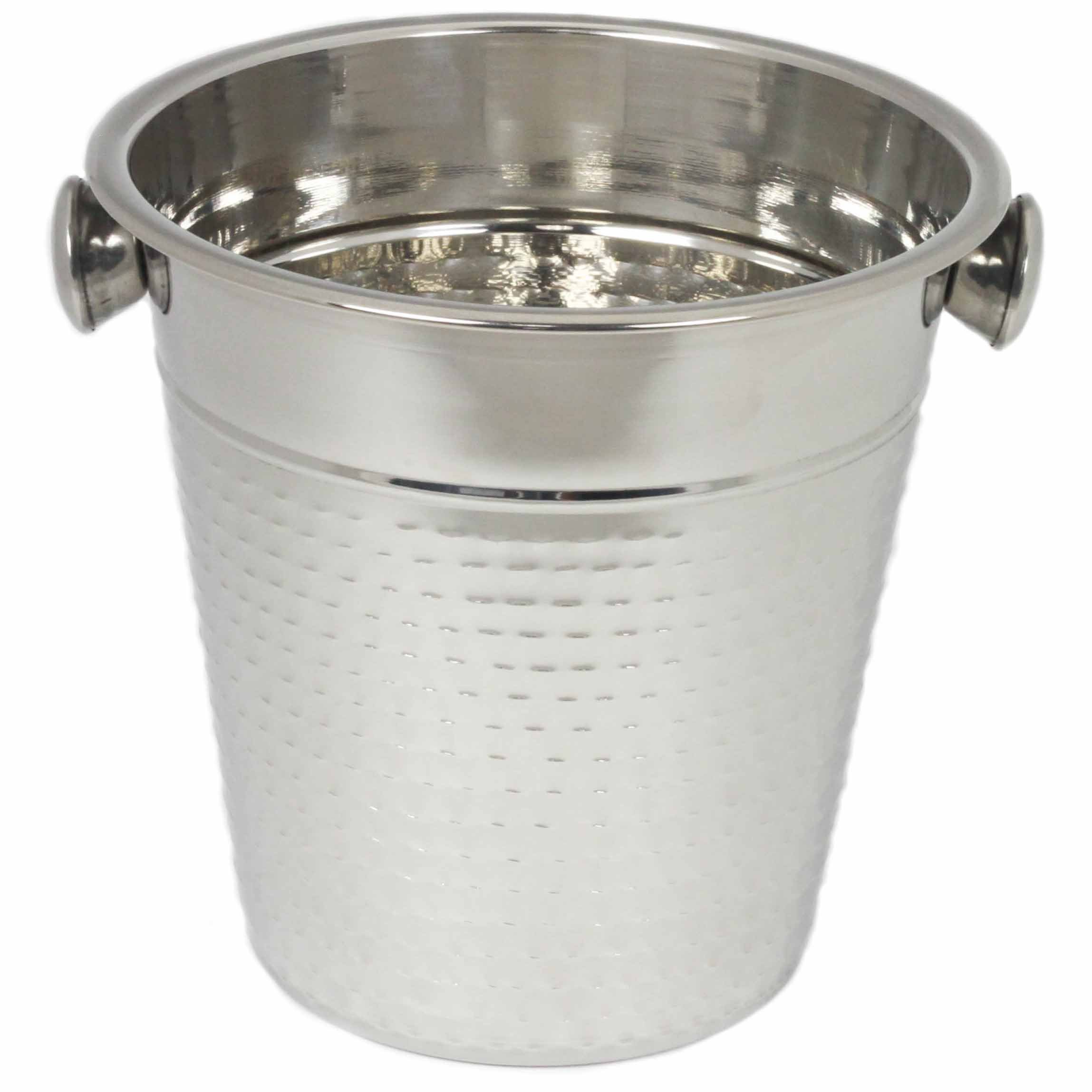 Chef Craft 21994 Hammered Champagne Bucket, Stainless Steel