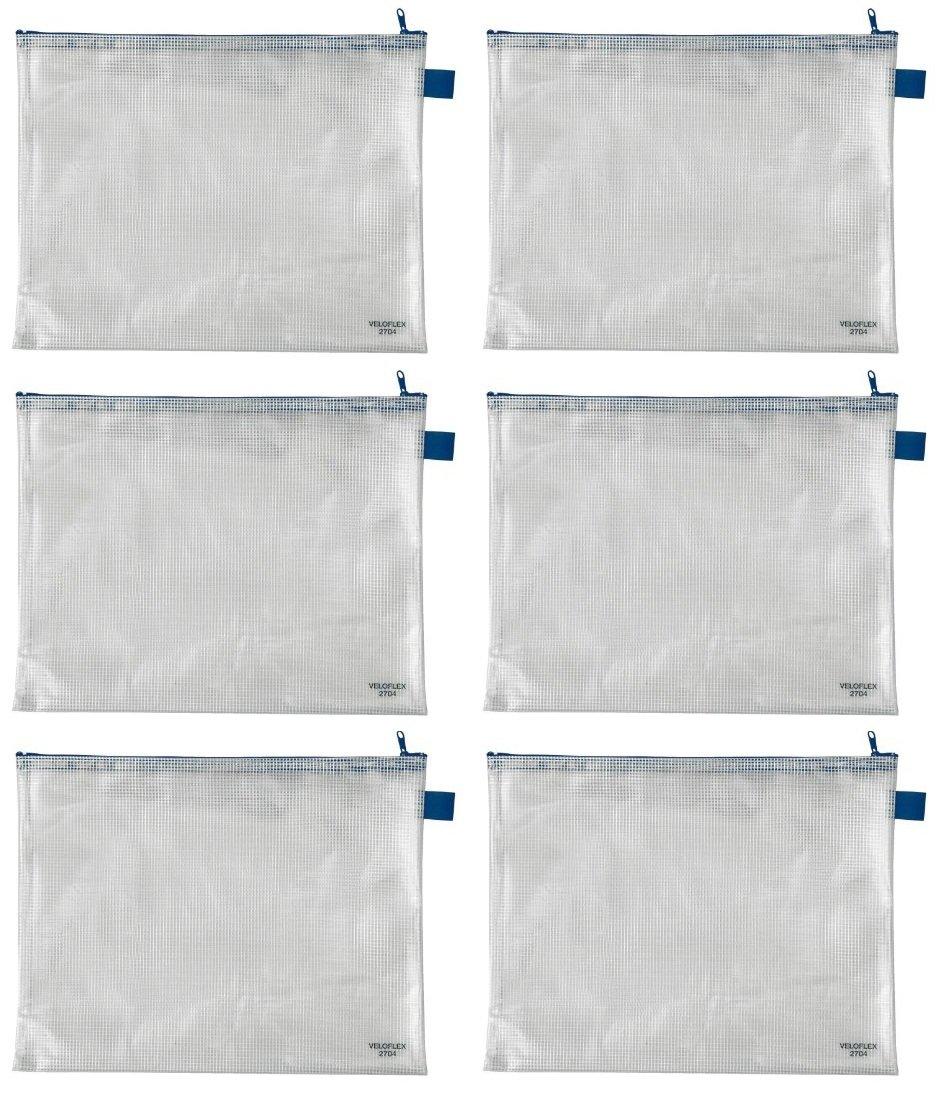 A4 A3 Dokumententasche PVC Veloflex 2704000 Reißverschlusstasche A5