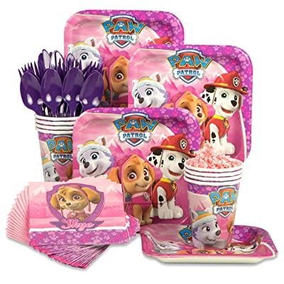 Costume SuperCenter Paw Patrol Pink Standard Tableware Kit (Serves 8): Toys & Games