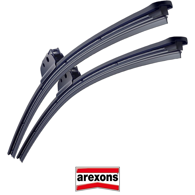 Arexons Flat Blade - Kit de escobillas limpiaparabrisas 8896-8886 ...