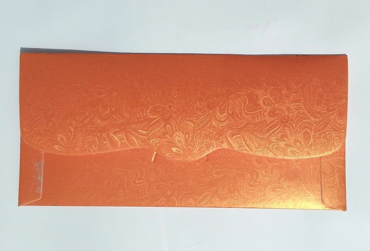 Parvenu Shagun Star Coin Money Envelopes in Orange Color Pack of 20 Pieces