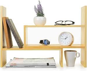 NUOBESTY Escritorio Estante de Almacenamiento Teclado Mesa Estante de Almacenamiento Papeler/ía Diversos Organizador para La Mesa de Ordenador