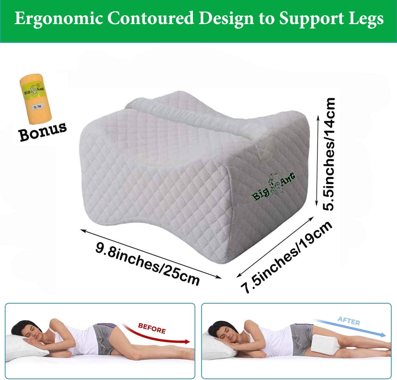 les jambes et le genou pour soulager la pression du nerf sciatique les hanches Craftsboys Oreiller orthop/édique de positionnement de jambe pour le dos