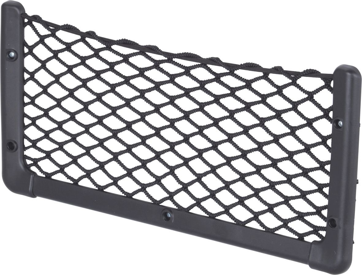 black Large Quality Elastic Storage Net Magazine Rack 410mm X 200mm in Black 16 1//4 inches X 7 7//8 inches