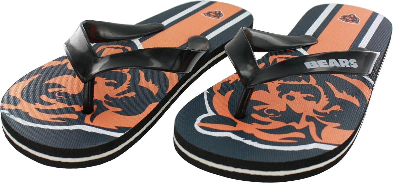 07a2e294 Amazon.com: Chicago Bears Adult Unisex Big Logo Flip Flop Sandals ...