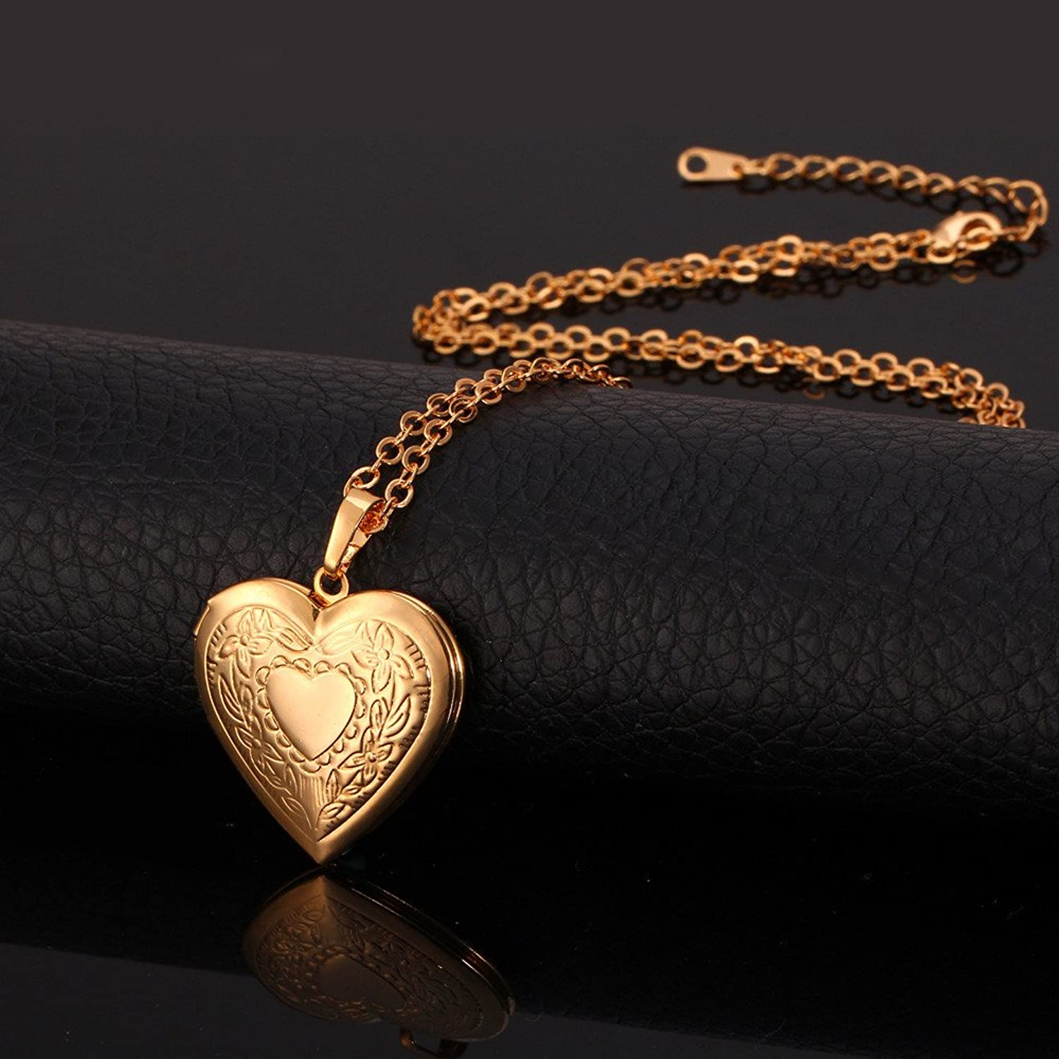 amazon lockets dp heart locket jewelry women photo com gold plated necklace pendant