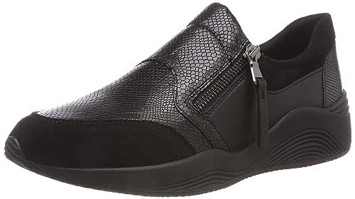 Chaussures Femme Geox OMAYA Baskets basses black