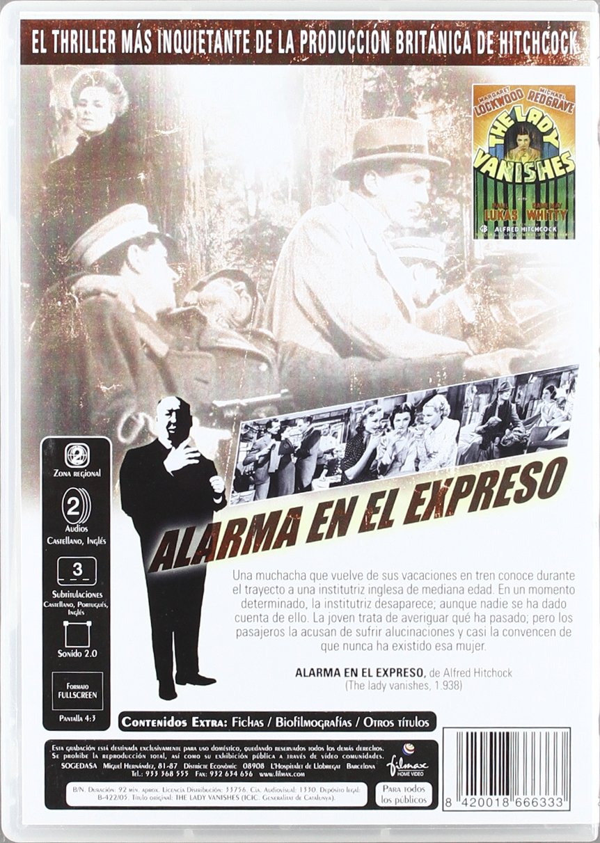 Alarma en el expreso [DVD]: Amazon.es: Margaret Lockwod Iris ...