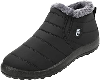Amazoncom Feetcity Mens Snow Boots Women Winter Anti Slip Ankle