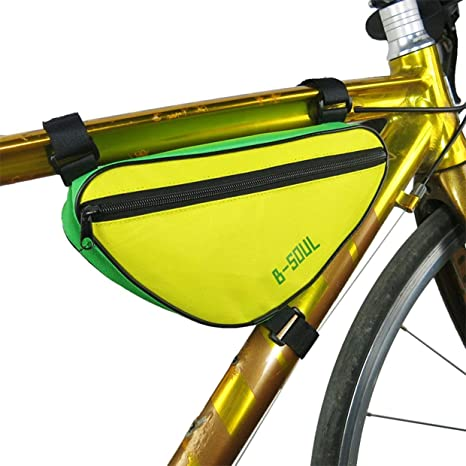 Qewmsg Bike Front Frame Top Tube triángulo Delantero Saddle Bag ...