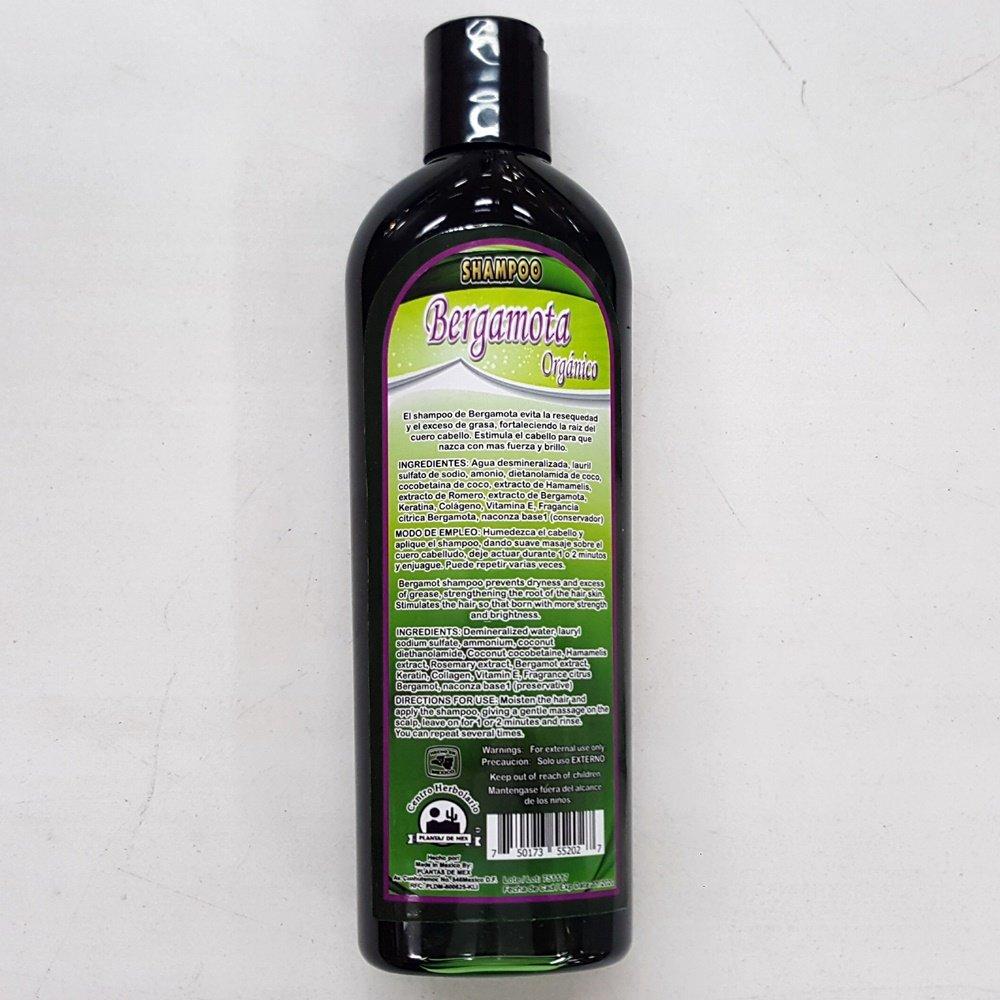 Amazon.com: Bergamota Organico Shampoo 15.21 Fl Oz Enriquecido con Keratina, Colageno y Vitamina E: Beauty