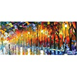 """Ruifengsheng Extended Gaming Mouse Pad XXL Mouse Mat Large Mouse Pad Non-Slip Professional Precision Tracking Surface (31.5"""" x 15.7"""") 90x40 (90x40 Forest018)"""