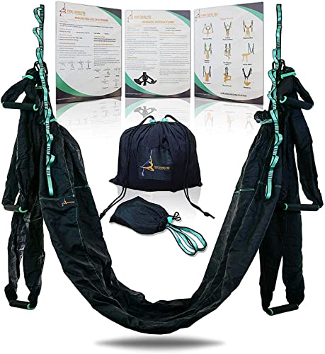 Aerial Yoga Swing Hammock Strong Durable Antigravity Inversion Kit with Trapeze Sling Ideal for Home Gym Fitness
