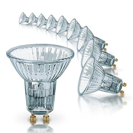 Osram Halogen-Reflektor, Halopar, GU10-Sockel, Dimmbar, 50 Watt, 35° Abstrahlwinkel, Warmweiß, 10er Pack