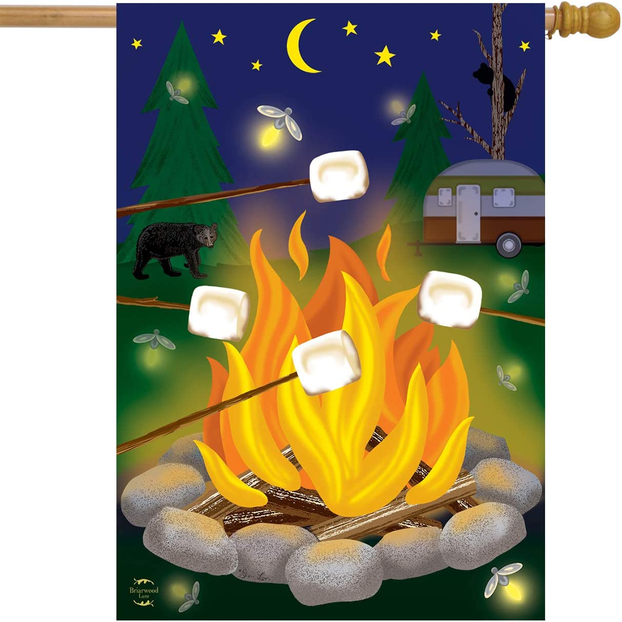 Campfire S'Mores And Camper 28x40