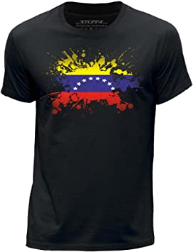 Stuff4 Hombres/X Grande (XL)/Negro/Cuello Redondo de la Camiseta ...