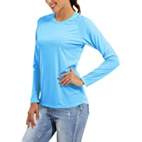 MAGCOMSEN Women's UPF 50+ Sun Protection Shirts Long Sleeve Performance T Shirts for Running, Workout, Fishing, Hiking