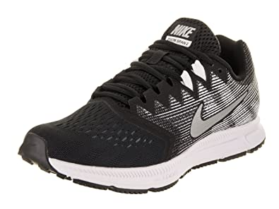Nike Womens Zoom Span 2 Black/Metallic/Silver Running Shoe 6.5 Women US