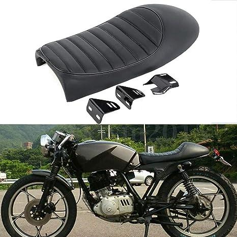 XFMT Black Hump Cafe Racer Motorcycle Seat Saddle Compatible with Suzuki GS  Yamaha XJ Honda CB