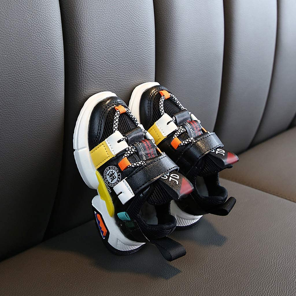 Girls Boys Casual Sneakers Toddler Infant Kids Soft Sole Mesh Sneakers Sport Running Trainer Cross-Tied First Walking Shoes