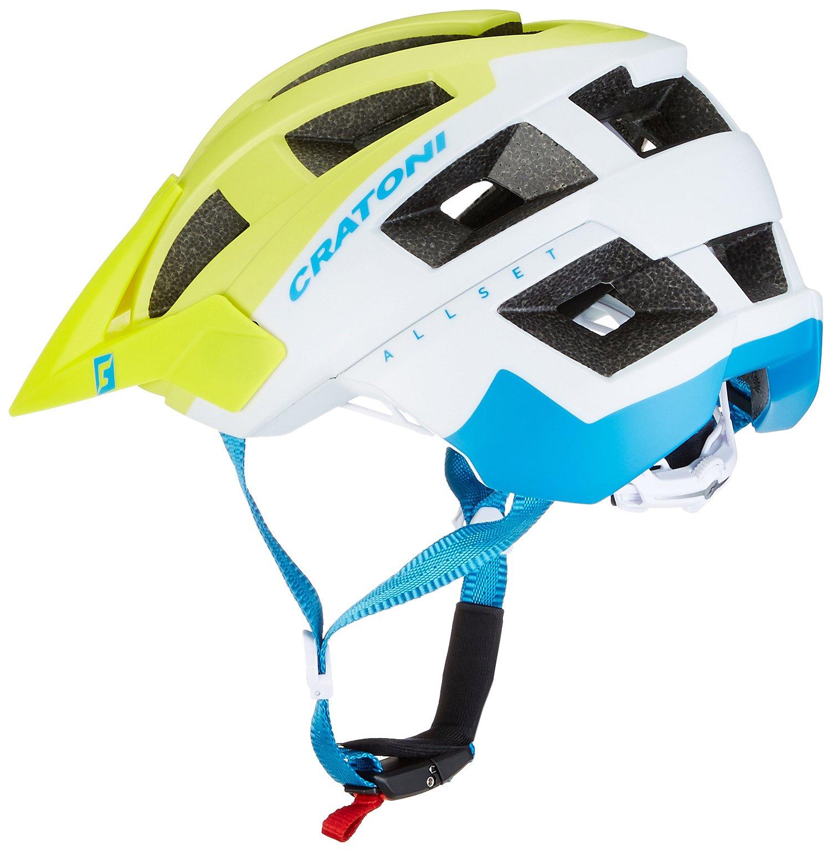 Cratoni Allset Bike Helmet Lime White Blue Matt Sm (54 58) by Cratoni (Image #2)