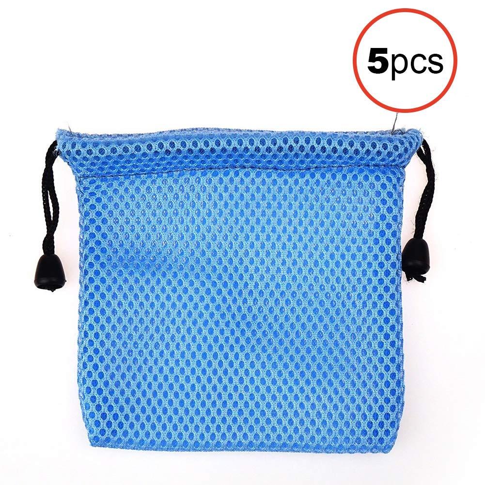 Newin Star Borsa Borsa Cube Borsa di stoccaggio sacchetto di velluto sacchetto della maglia a prova di polvere di Rubik Cube Bag storage addensare sacchetto della maglia di Rubik (blu) 5 PCS
