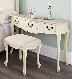 TRADITIONAL STYLE EXCLUSIVE PURE IVORY ELEGANCE MIRRORED DRESSING ...