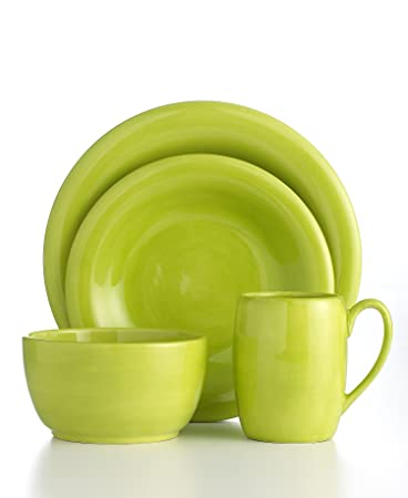Espana Lifestyle Handcrafted and Hand Painted 4 Pc Place Setting LIme  sc 1 st  Amazon.com & Amazon.com | Espana Lifestyle Handcrafted and Hand Painted 4 Pc ...