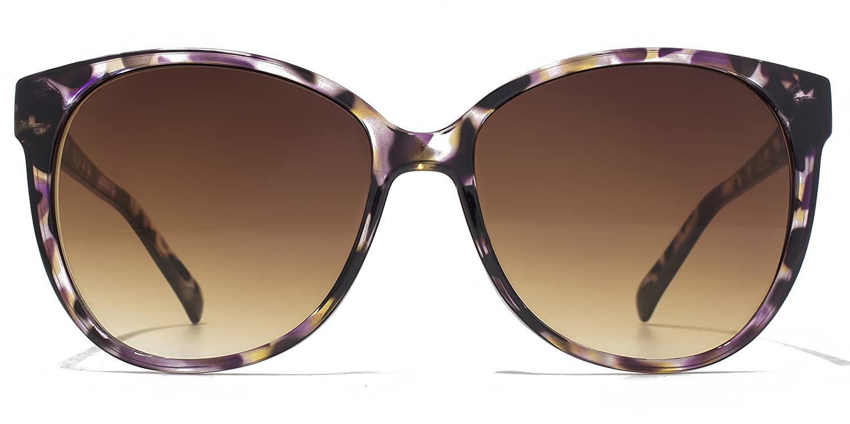 American Freshman Lunettes de soleil Square Cateye soft en écaille violet AFS012 One Size Brown Gradient NQ3RA8