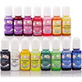 LET'S RESIN 15 Colors Epoxy Pigment, Translucent Liquid Resin Colorant Each 0.35oz, Non-Toxic Epoxy Resin Dye Mix Color…