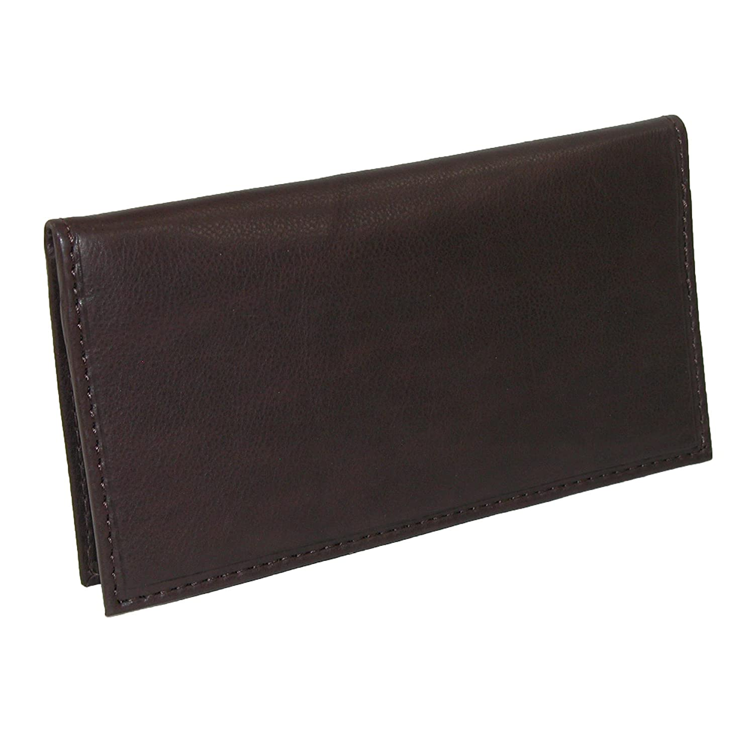 Paul & Taylor Leather Card Holder and Checkbook Cover Wallet, Brown
