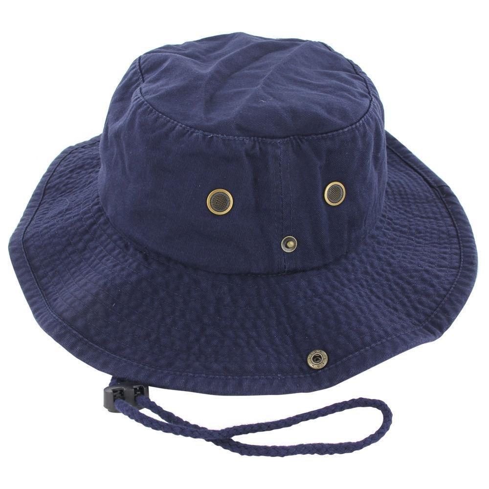 9Proud Navy Cotton Hat Boonie Bucket Cap Summer Men Women by 9Proud