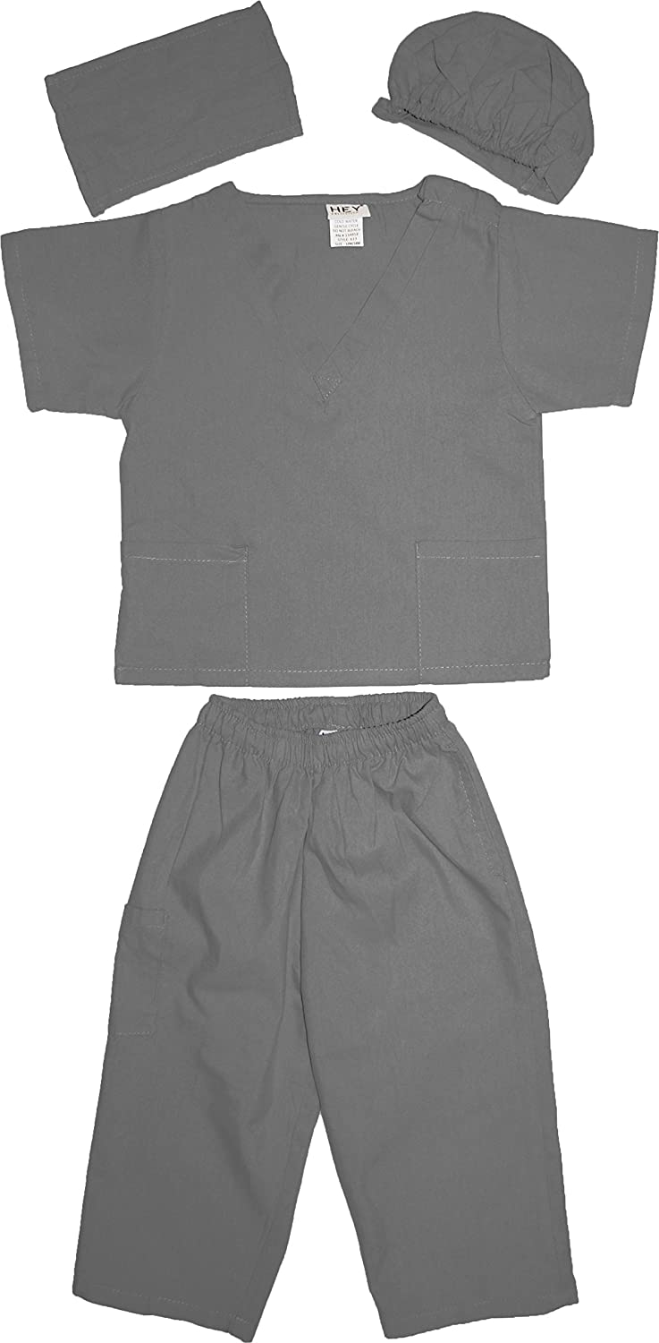 Kids Doctor Dress up Surgeon Costume Set available in 13 Colors for 1-14 Years
