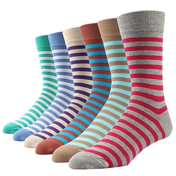 bunt geringelt Baumwolle 2 Paar Herren-Socken