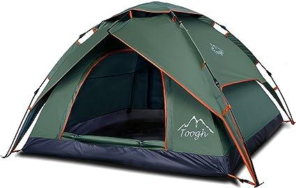 Toogh Pop up ZelteFamilienzelt Camping Zelt für 2 3 PersonenOutdoor Reise Camping Wandern Strand mit Tragetasche Zelt