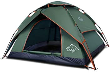 2-3 Person Family C&ing Tent - Toogh 4 Seasons Backpacking Tents Automatic Instant Pop  sc 1 st  Amazon UK & 2-3 Person Family Camping Tent - Toogh 4 Seasons Backpacking Tents ...