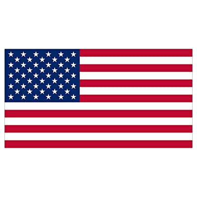 Rogue River Tactical American USA Flag Sticker Patriotic Stars and Stripes United States Auto Car Decal Window Bumper US Military (3x5): Automotive