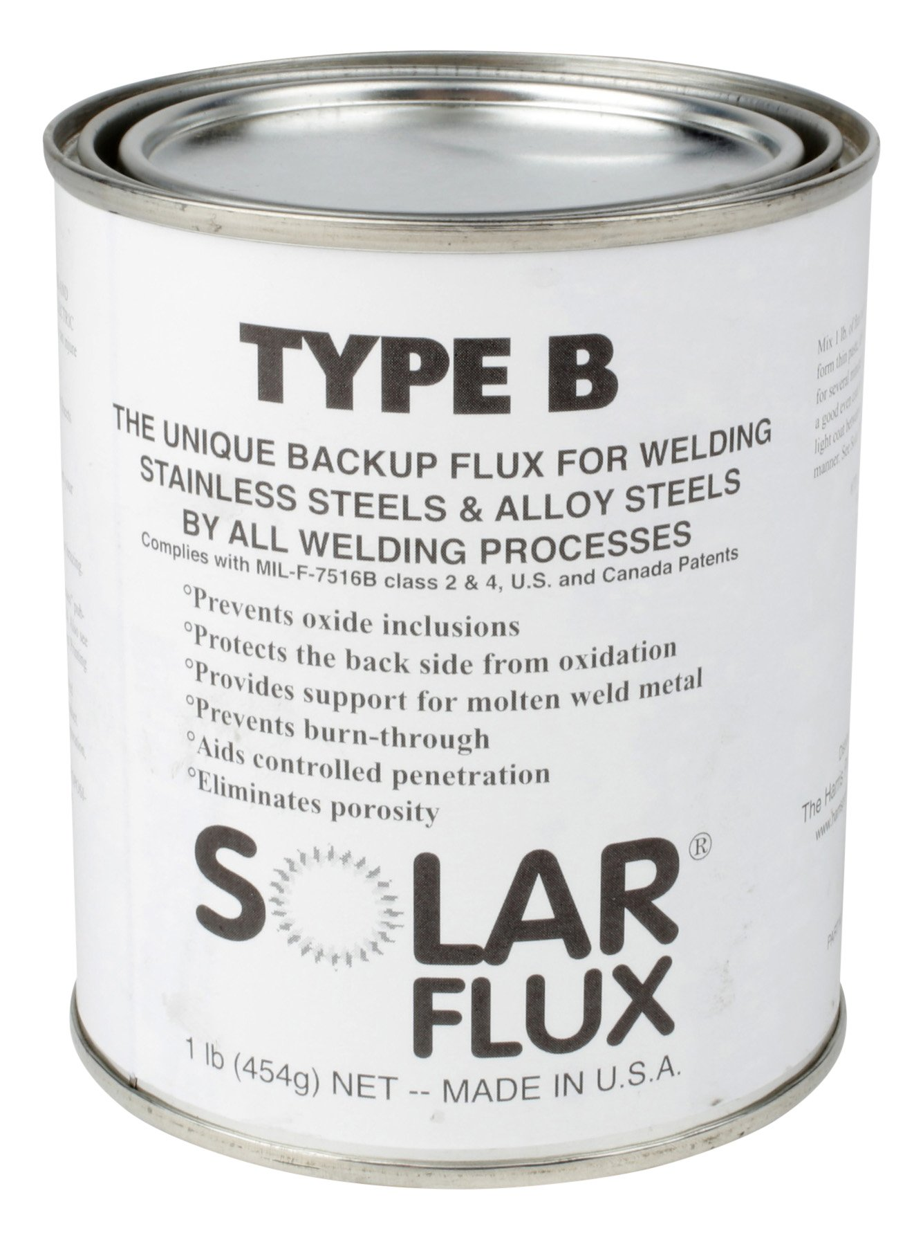 Harris S0FB01Type B Solar Welding Flux, 1 lb. Can product image