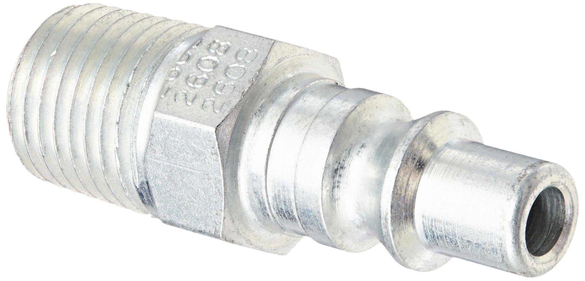 "Eaton Hansen 2608 Steel 210/310 Series ARO Interchange, Coupler Plug, 1/4"" Body Size x 1/4"" NPT Male"