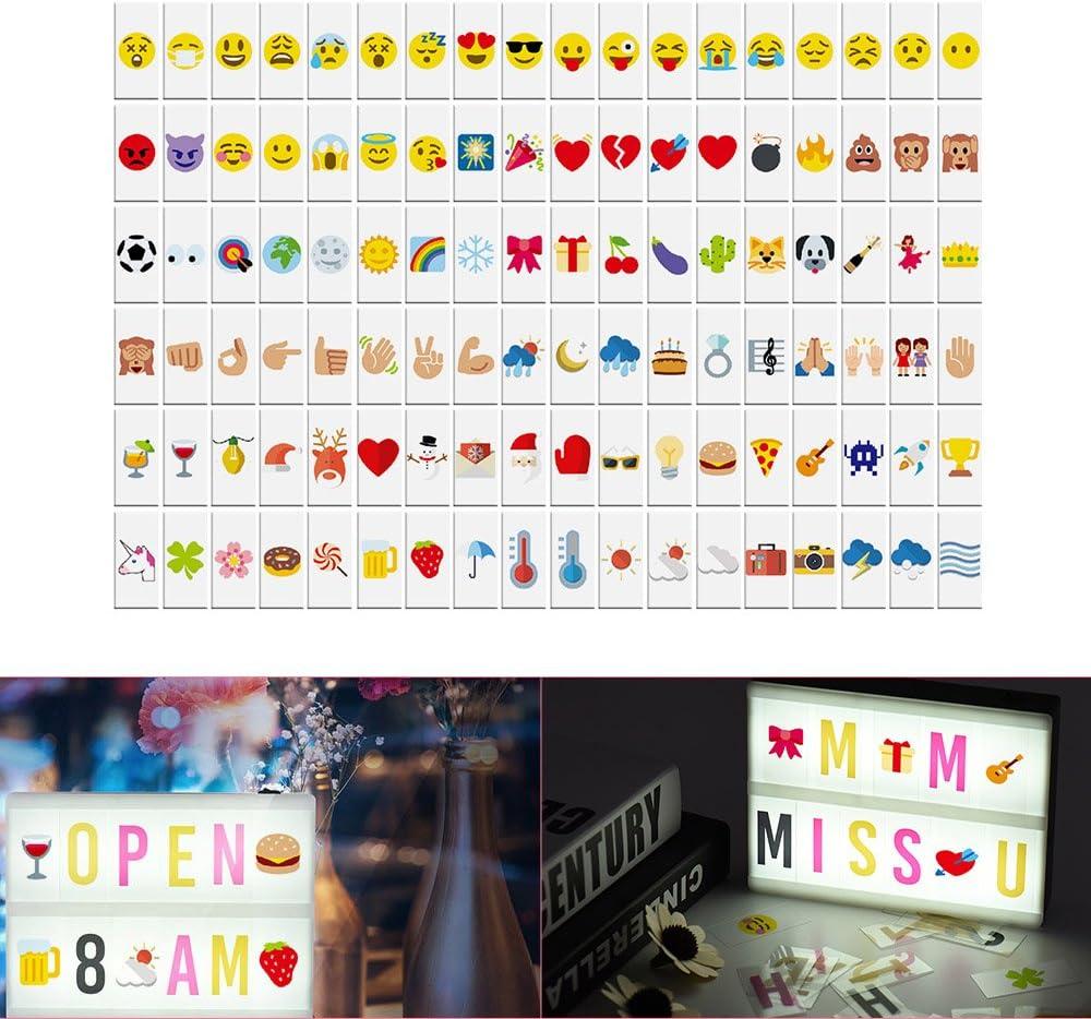 Aibecy 108 símbolos y emoticonos de colores para caja de luz A4, Símbolos intercambiables de cajas de luz de cine: Amazon.es: Oficina y papelería